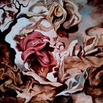 Copie Piere Paul Rubens Le Sacrifice d'Hisac 50x66 huile et mine de plomb sur Bois 2016