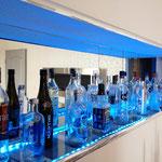 Wohnzimmer Lichteffekte Ferienhaus am See Kaschubei Polen
