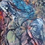 Unsagbar (Deutscher Michel), 1999, 60x60 cm, Acryl auf Leinwand