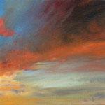 Mona Fischer`Sonnenuntergang`, Öl/Leinwand