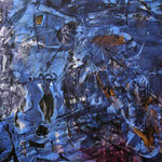 Vorhof, 12 n.T./1998, 150x200 cm, Acryl, Goldpigment auf Leinwand