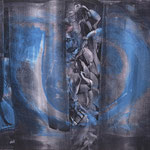 What´s behind the curtain, 05 n.T./1991, 110x140 cm, Acryl auf Leinwand