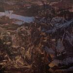 Caput mortuum, 05 n.T./1991, 150x200 cm, Acryl, Kupferpigment auf Leinwand