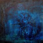 Zwischenwelt, 05 n.T./1991, 110x140 cm, Acryl auf Leinwand