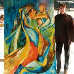 Anno 1995: Kunstwerk für die Ausstellung Weihnacht im Wald