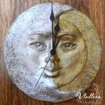 """Часы """"Луна-солнце"""""""