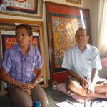 Madhu Chittrakar et sa fille Saana, peintres