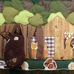 """Panneau """"Cousette à conter"""" : La forêt"""