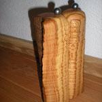 Pfeffer-Salzmühlenset aus Olive Holz Unikat Einzelstück Gewürzmühle handarbeit design