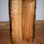 Pfeffermühlen Salzmühlen Set aus Olive Holz Unikat Einzelstück Gewürzmühle handarbeit design
