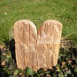 Pfeffer- Salzmühlenset alter Eichenbalken Holz