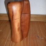 Pfeffer-Salzmühlenset aus Apfelholz Holz Unikat Einzelstück Gewürzmühle handarbeit design