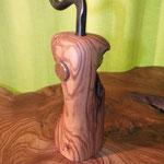Pfeffermühle, Gewürzmühle mit Kurbel Olive Holz Unikat Einzelstück  handarbeit design