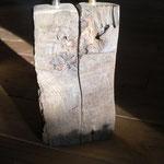 Pfeffer-Salzmühlenset aus altem Eichenbalken Holz