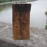 Pfeffer-Salzmühlenset aus alter Fassdaube Holz Unikat Einzelstück Gewürzmühle handarbeit design