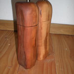 Pfeffermühlen Salzmühlen Set aus Apfelholz Holz Unikat Einzelstück Gewürzmühle handarbeit design