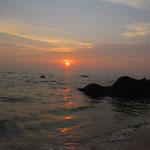 Unser Strand beim Kannur Beach House