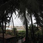 Blick vom Balkon unserer ersten Unterkunft