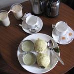 indisches Frühstück, keine Ahnung was das war, hat aber geschmeckt und war schön scharf!