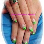 Neongrün mit Zebra Stamping