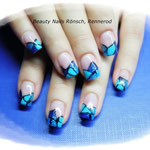 Mosaik in blautönen