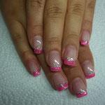 Neon pink mit holo Glitter