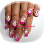 French in pink mit One Stroke Malerei
