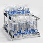 Injektorwagen für modularen Aufbau von 2 Ebenen, mit Kassetten C402, C403, C407, C408, C409