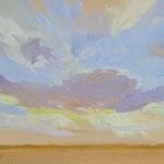 "Sunset at Starr Farm -oil 10""x8"""