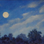"""Above the Treetops - oil- 10""""x8"""""""