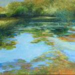 """Across the Pond -  oil -36""""x36"""""""