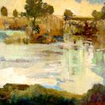 Marshlight - oil on linen