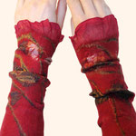 Stulpen Nr. | Wristlets No. 38  |  40 €   |   Chiffon/Merino gefilzt/felted