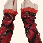 Stulpen Nr. | Wristlets No. 36  |  40 €   |   Chiffon/Merino gefilzt/felted