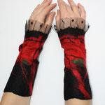 Stulpen Nr. | Wristlets No. 15  |  45 €   |   Chiffon/Merino gefilzt/felted