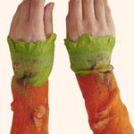 Stulpen Nr. | Wristlets No. 24  |  40 €   |   Chiffon/Merino gefilzt/felted