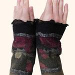 Stulpen Nr. | Wristlets No. 63  |  35 €   |   Chiffon/Merino gefilzt/felted