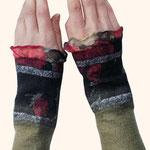 Stulpen Nr. | Wristlets No. 57  |  35 €   |   Chiffon/Merino gefilzt/felted