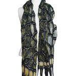 Schal Nr. | Scarf No. 752  |  110 €   |   Chiffon/Merino gefilzt/felted   |   individualisierbar