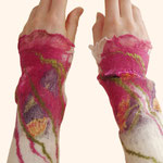 Stulpen Nr. | Wristlets No. 34  |  35 €   |   Chiffon/Merino gefilzt/felted
