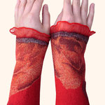 Stulpen Nr. | Wristlets No. 67  |  35 €   |   Chiffon/Merino gefilzt/felted