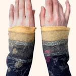 Stulpen Nr. | Wristlets No. 64  |  35 €   |   Chiffon/Merino gefilzt/felted