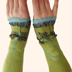 Stulpen Nr. | Wristlets No. 76  |  40 €   |   Chiffon/Merino gefilzt/felted