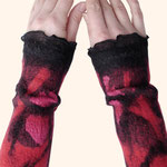 Stulpen Nr. | Wristlets No. 40  |  40 €   |   Chiffon/Merino gefilzt/felted