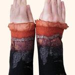 Stulpen Nr. | Wristlets No. 62  |  35 €   |   Chiffon/Merino gefilzt/felted