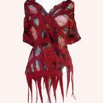 Schal Nr. | Scarf No. 750  |  110 €   |   Chiffon/Merino gefilzt/felted   |   individualisierbar