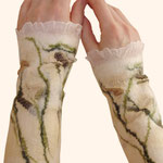 Stulpen Nr. | Wristlets No. 32  |  40 €   |   Chiffon/Merino gefilzt/felted