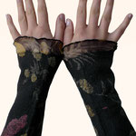 Stulpen Nr. | Wristlets No. 74  |  35 €   |   Chiffon/Merino gefilzt/felted