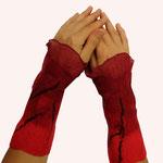 Stulpen Nr. | Wristlets No. 5  |  35 €   |   Chiffon/Merino gefilzt/felted