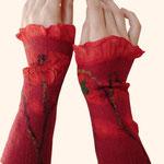 Stulpen Nr. | Wristlets No. 21  |  40 €   |   Chiffon/Merino gefilzt/felted